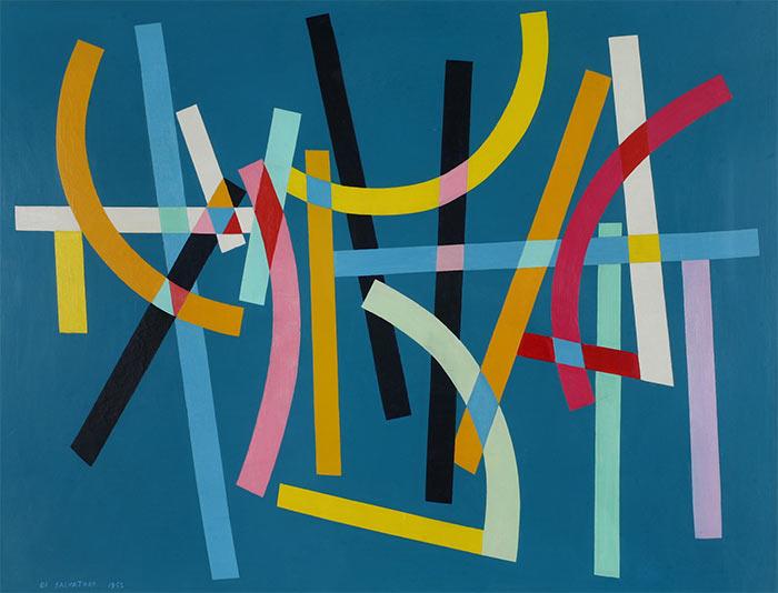 Abstracción y ritmo en pintura