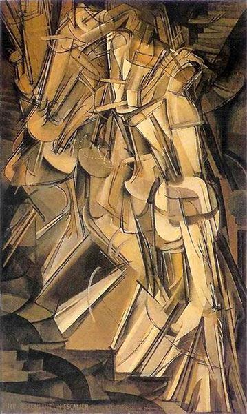 Desnudo bajando una escalera de Marcel Duchamp.
