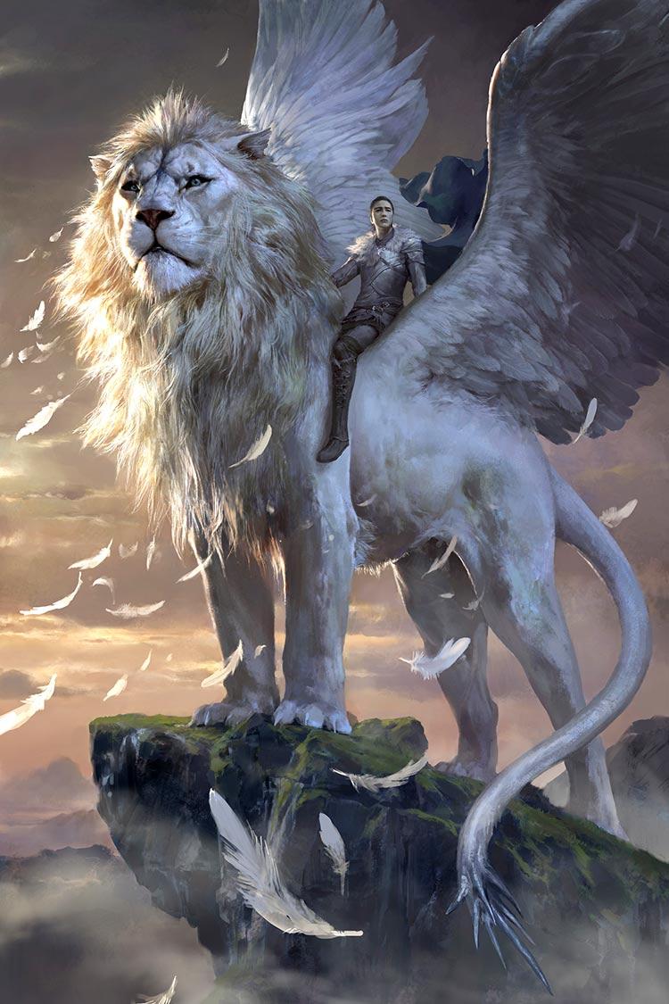 León con alas de Arts Station