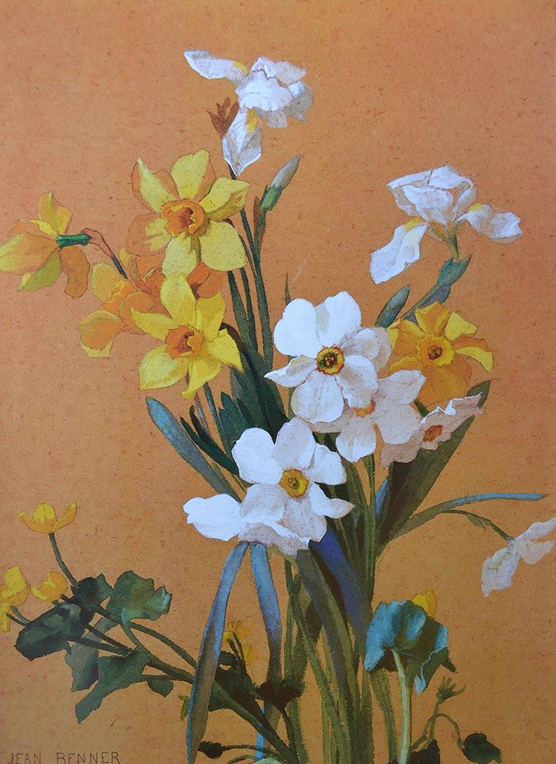 Narcisos blancos y amarillos de Jean Benner