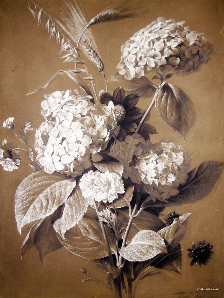 Flores hortensias de Antoine Berjon
