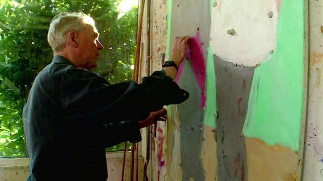Sargy Mann pintando