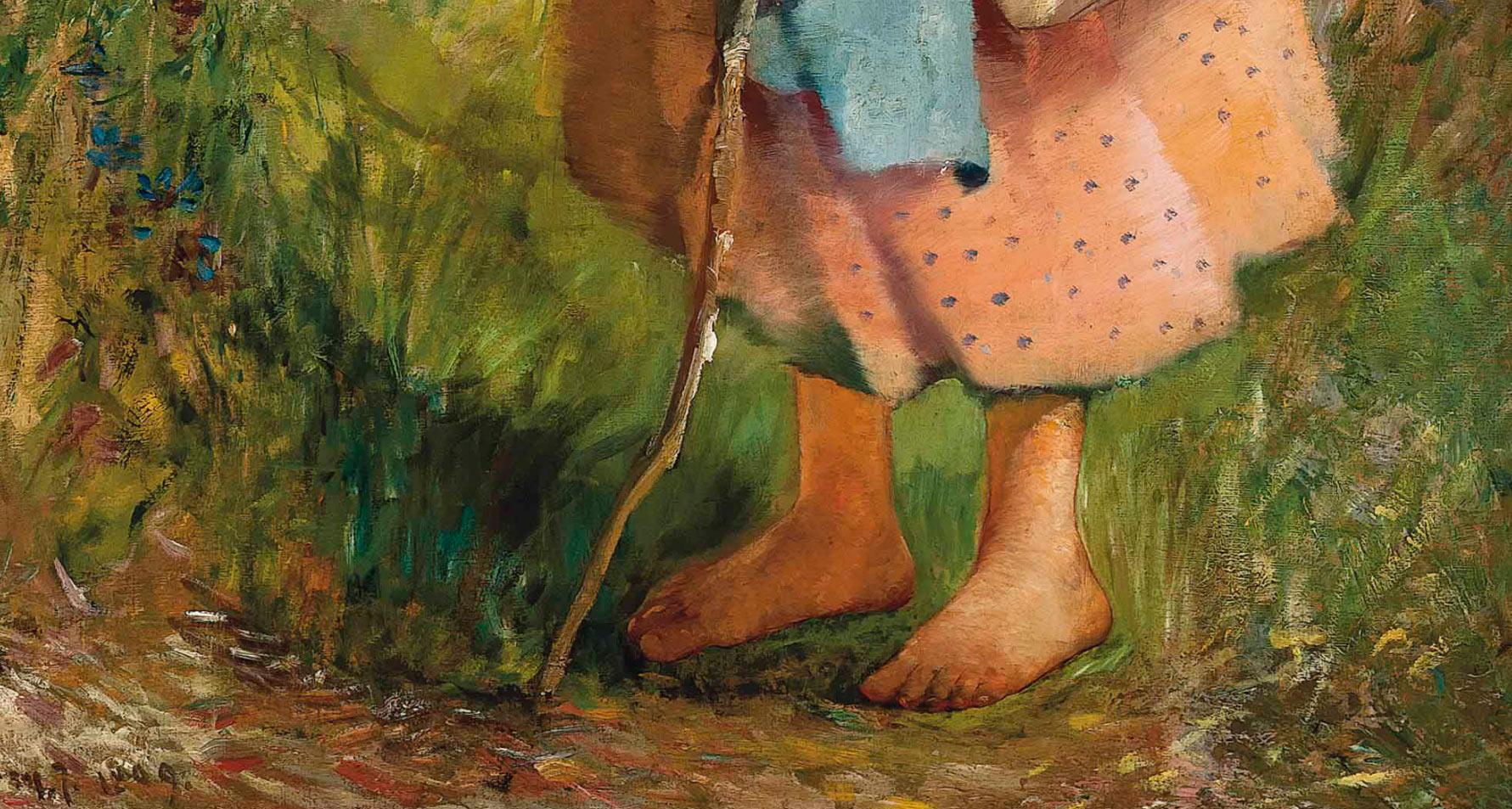 Detalle de la naturaleza - Pintura de Ignac Ujvary - Paseo de verano