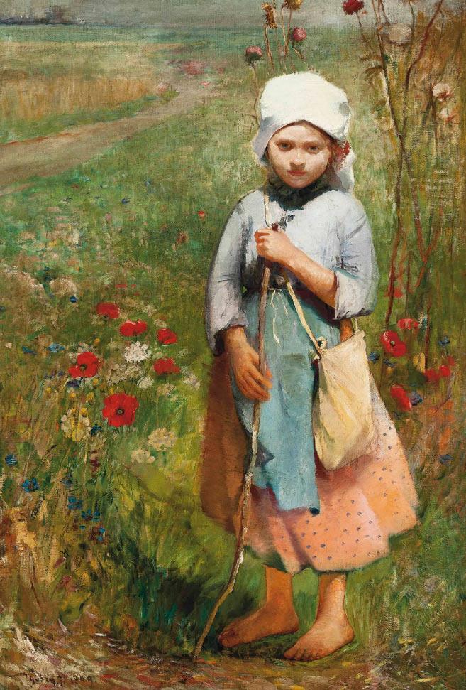 Pintura de Ignac Ujvary - Paseo de verano