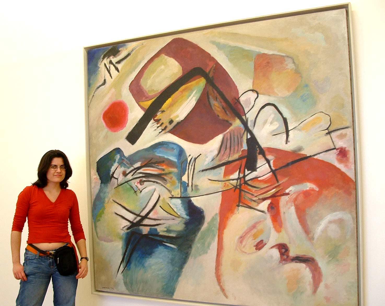 pintura de kandinsky en el museo