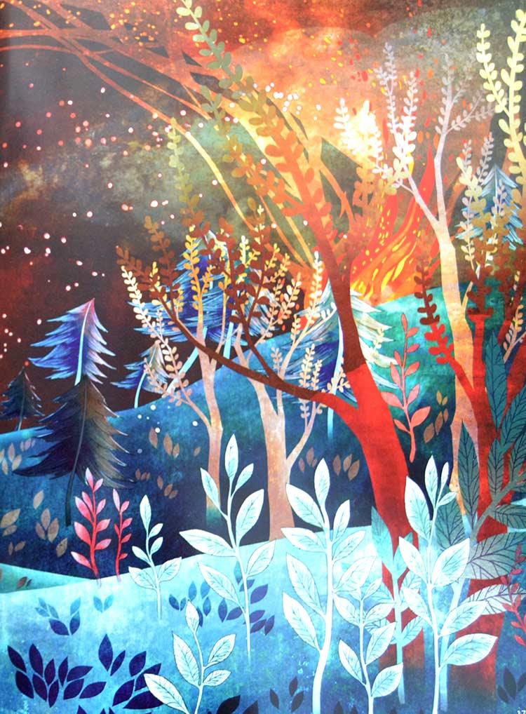 pintura bosque Khoa Le