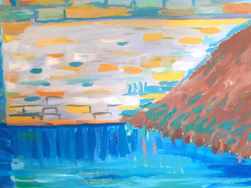 como pintar el agua
