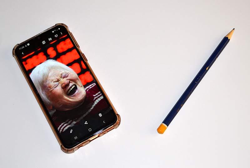 dibujar la foto con el móvil