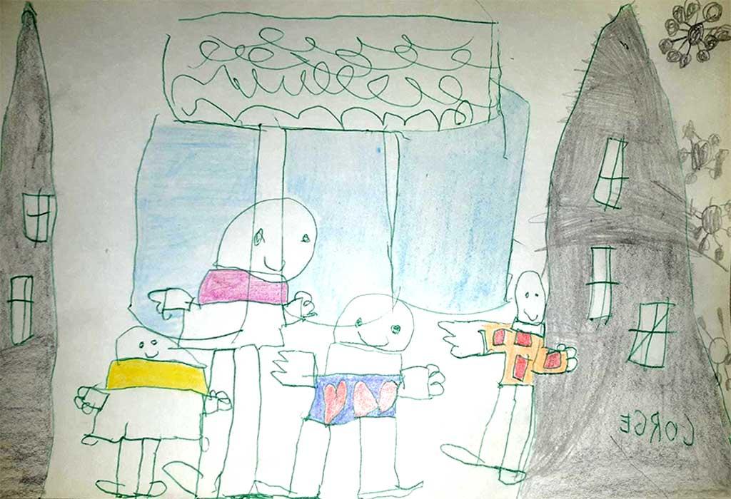 Dibujo familias coronavirus