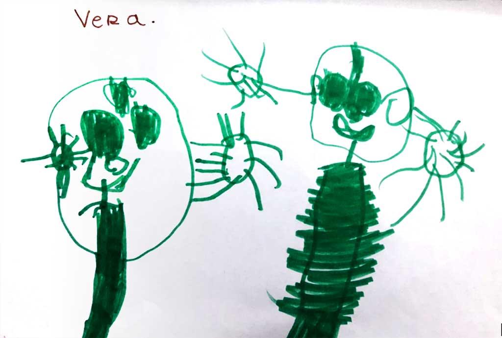 dibujo niños  coronavirus