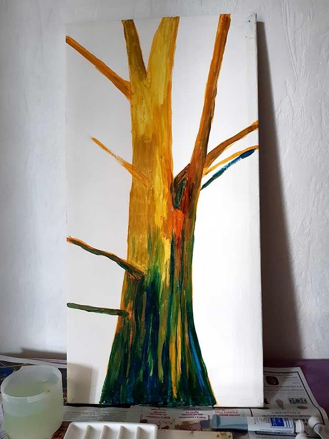 proceso pictórico árbol