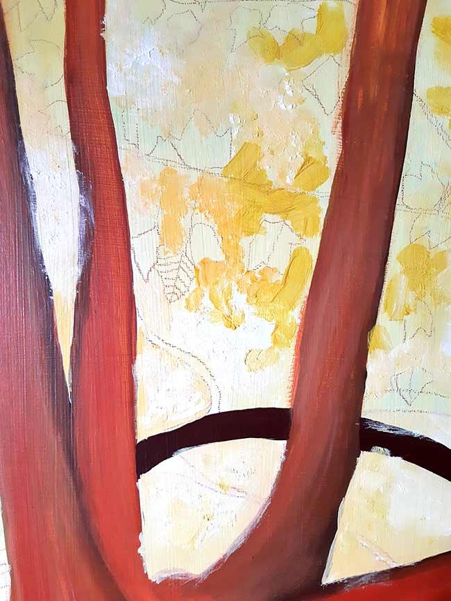 árbol hojas pintura