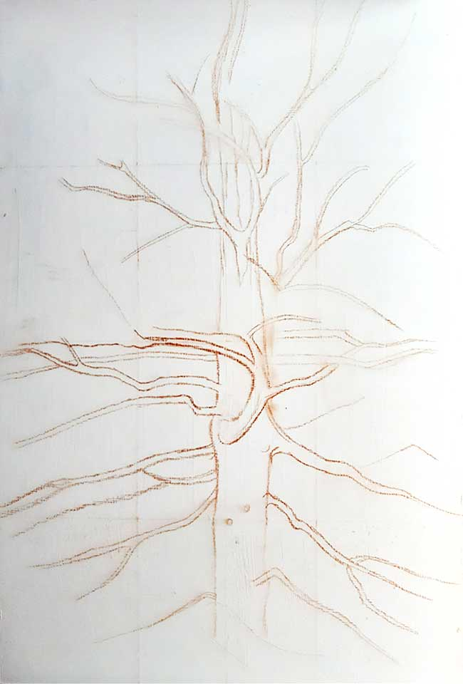 árbol grande pintura