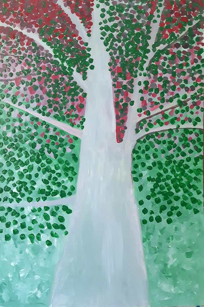 árbol fondo pintura