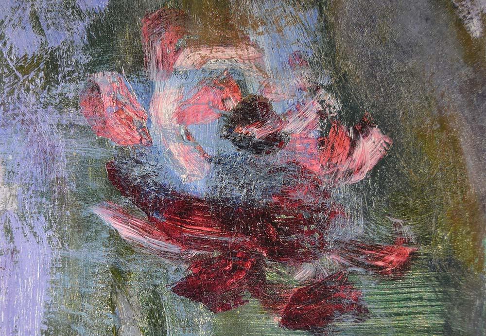 pintura difuminada flores