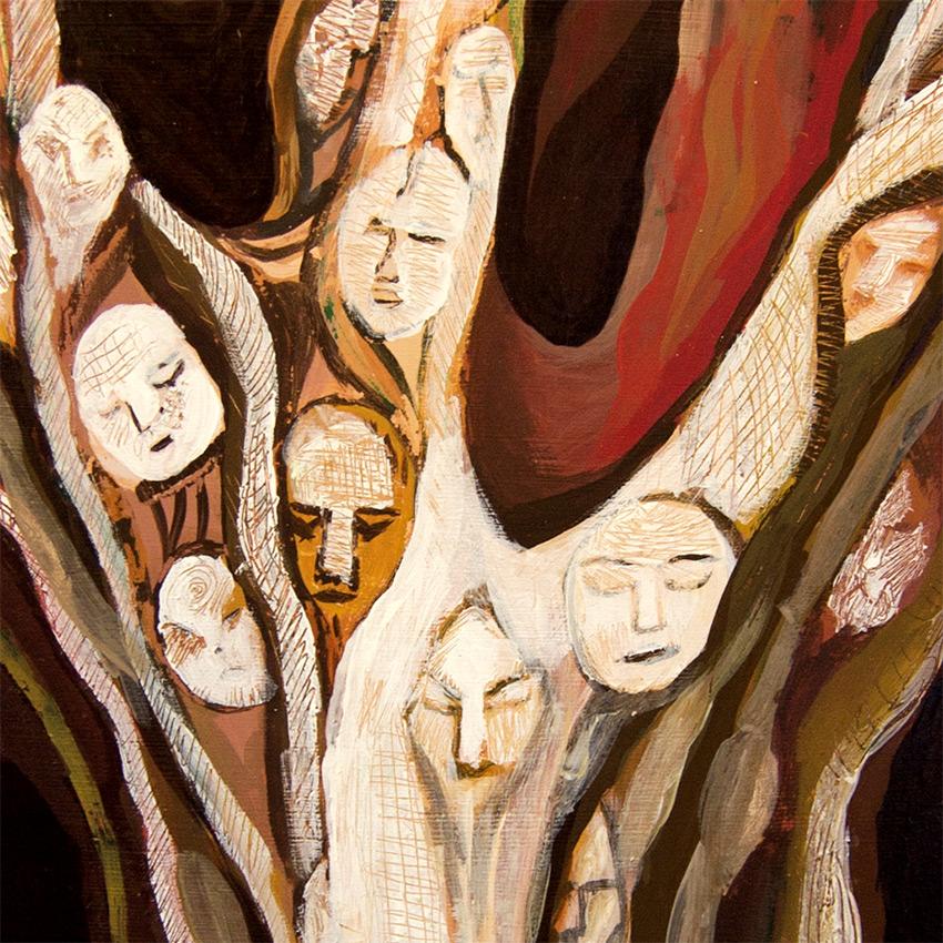 árbol Bodhi  pintura