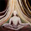 Buda intentando iluminarse bajo el árbol Bodhi