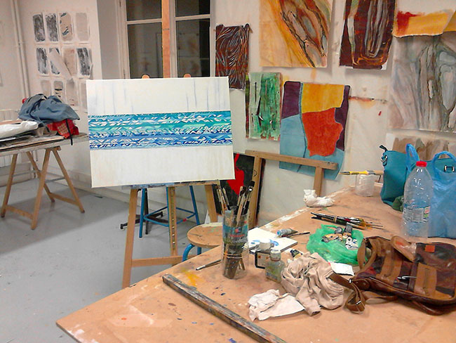 Pintura en el atelier