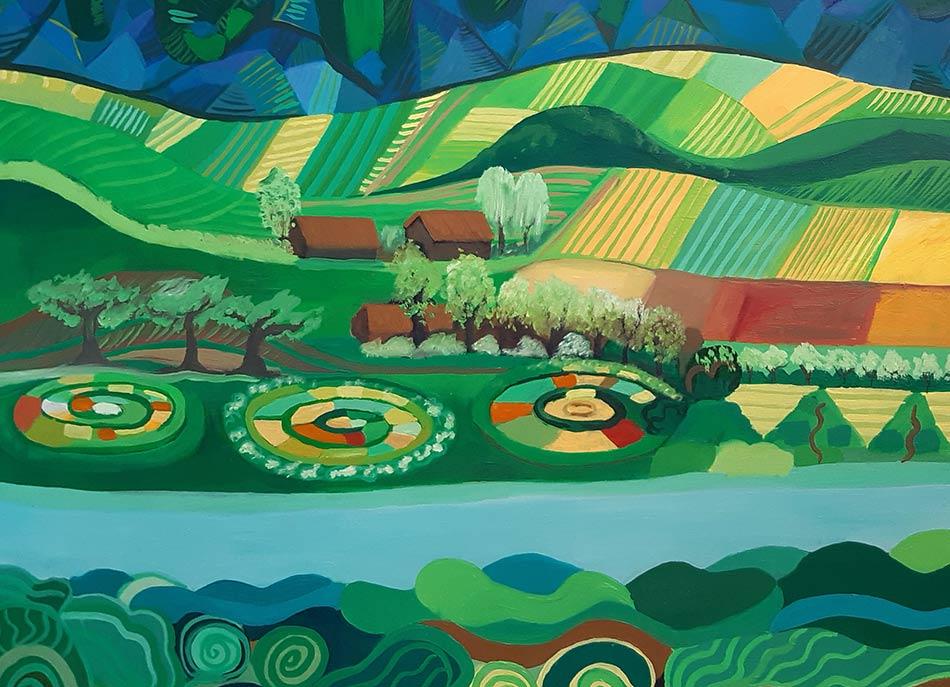 detalles de la pintura