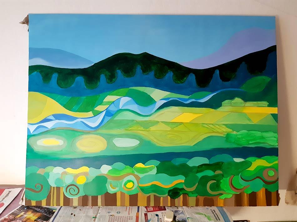Pintura permacultura, proceso pictórico