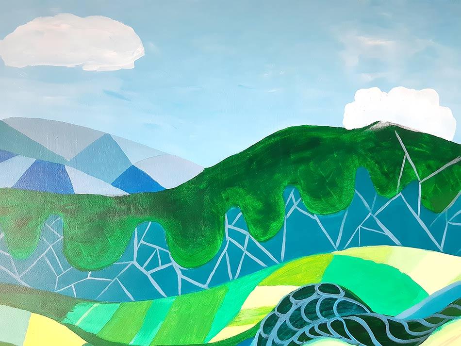 dibujo montaña