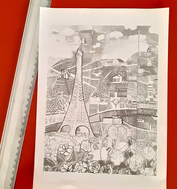 Boceto de la pintura de París