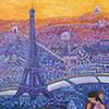 Pintura romántica y expresionista de París paso a paso