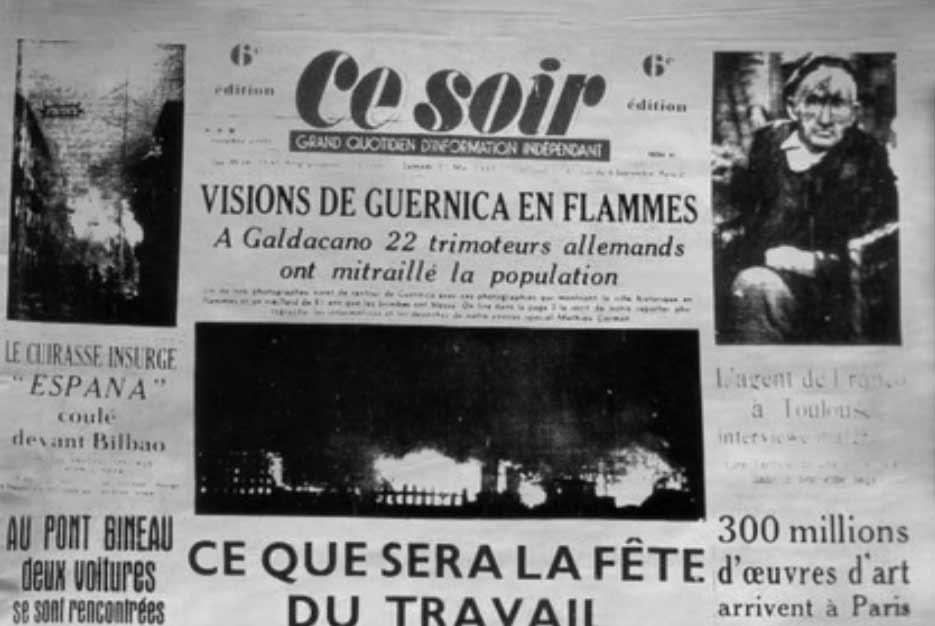 foto periódico guerra españa guernica