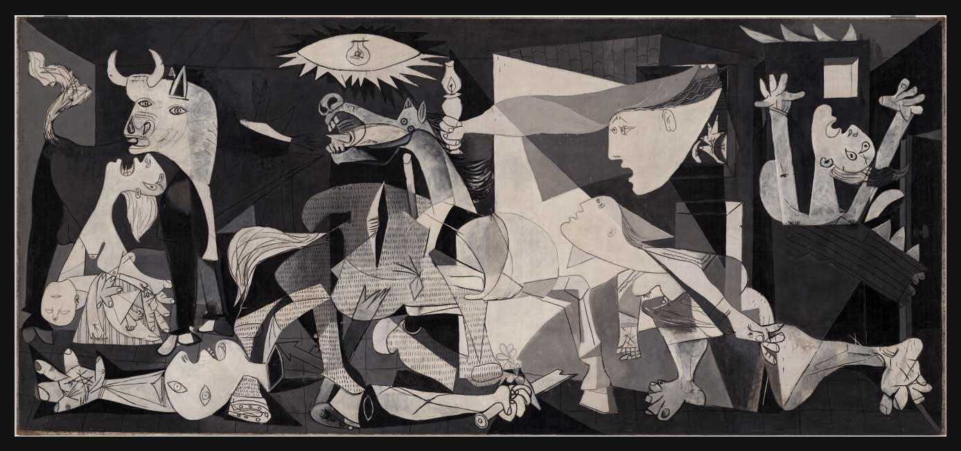Composición Guernica Picasso