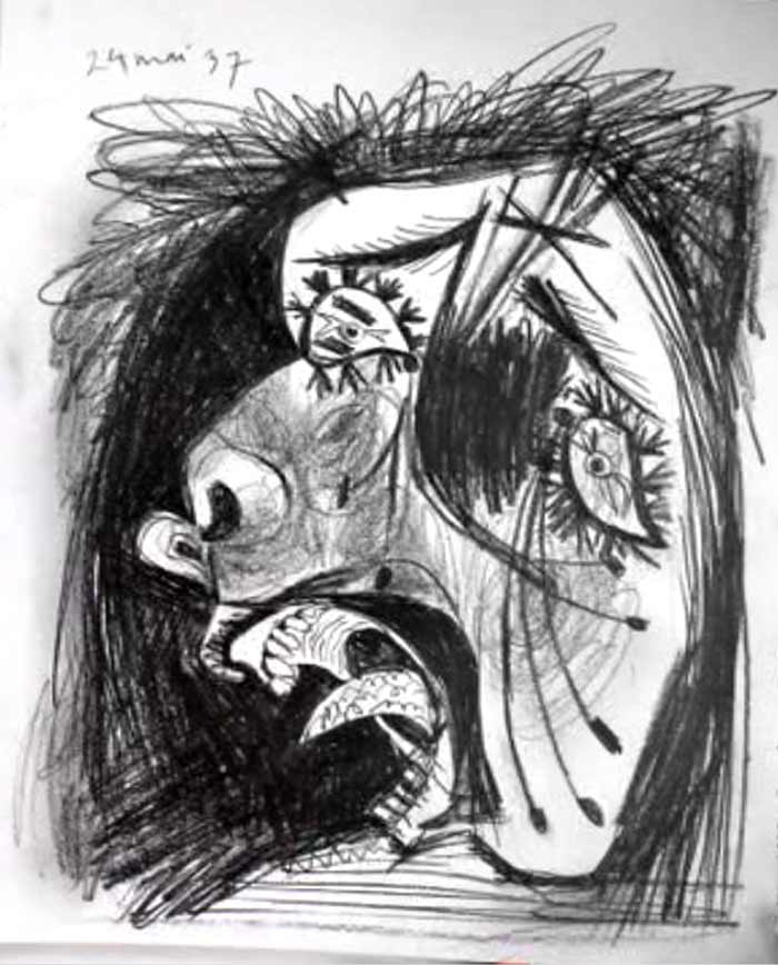 rostro terror Picasso
